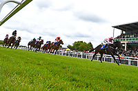 Winner of The Simon & Nerys Dutfield Memorial Novice Stakes, Youkan ridden by Martin Lane and trained by Stuart Kittow during Afternoon Racing at Salisbury Racecourse on 18th May 2017
