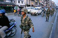 Militarization and Curfew in Durbar square Kathmandu city