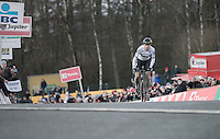 World Champion Wout Van Aert (BEL/Crelan-Vastgoedservice) winning the 2016 CX Superprestige Spa-Francorchamps (BEL)