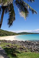 Pristine white sand Caribbean beach on Big Corn Island (or Great Corn Island), Nicaragua