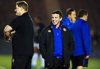 Bath Rugby Head Coach Mike Ford looks on during the pre-match warm-up. Aviva Premiership match, between Harlequins and Bath Rugby on March 11, 2016 at the Twickenham Stoop in London, England. Photo by: Patrick Khachfe / Onside Images