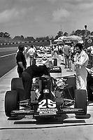 HAMPTON, GA - APRIL 22: Danny Ongais prepares to drive his Parnelli VPJ6C/Cosworth TC during practice for the Gould Twin Dixie 125 event on April 22, 1979, at Atlanta International Raceway near Hampton, Georgia.
