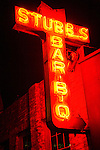 The neon sign of Stubb's BBQ, a well-known music venue in Austin, Texas, July 21, 2009.