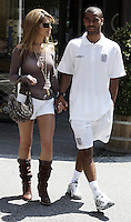 Ashley Cole with his partner Cheryl Tweedy in the centre of  Baden Baden, Germany, during the 2006 World Cup. PRESS ASSOCIATION Photo, Monday 26th June, 2006. Photo By Andrew Parsons/PA.