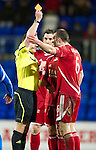 St Johnstone v Aberdeen...13.12.11   SPL .Ref Steven McLean sends off Andrew Considine.Picture by Graeme Hart..Copyright Perthshire Picture Agency.Tel: 01738 623350  Mobile: 07990 594431