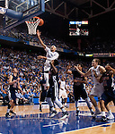 Freshman forward Willie Cauley-Stein shoots the ball over the Samford defense during the second half of the Men's Basketball game vs. Samford at the Rupp Arena in Lexington, Ky., on Tuesday, December 4th, 2012..
