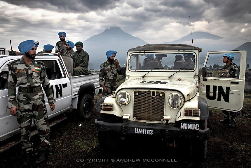 MONUC peacekeeping troops near the border with Rwanda, North Kivu, DRC.
