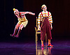 Kooza <br /> Cirque du Soleil <br /> at the Royal Albert Hall, London, Great Britain <br /> 4th January 2015 <br /> Dress rehearsal <br /> Stephen Landry as Innocent <br /> Joey Arrigo as Trickster <br /> Gordon White as King <br /> Colin Heath &amp; Ano Gulinello (Clowns)<br /> <br /> Contortionists<br /> Ninjin Altankhuyag<br /> Odgerel Byambadorj<br /> Sunderiya Jargalsaikhan<br /> <br /> Solo Trapeze <br /> Yulia Korosteleva<br /> <br /> Uniclw duo <br /> Philippe Belanger<br /> Marie-Lee Guilbert <br /> <br /> Hire Wire<br /> Angel Quiros Dominguez<br /> Vincente Quiros Dominguez<br /> Roberto Quiros<br /> Brayan Sanchez<br /> <br /> Crooner / Skeleton Dance<br /> <br /> Wheel of Death <br /> Ronald Solis <br /> Robinson Valencia<br /> <br /> Hoops Manipulation <br /> Irina Akimova<br /> <br /> Balancing on Chairs<br /> Yao Deng Bo <br /> <br /> Tetherboard <br /> <br /> Photograph by Elliott Franks
