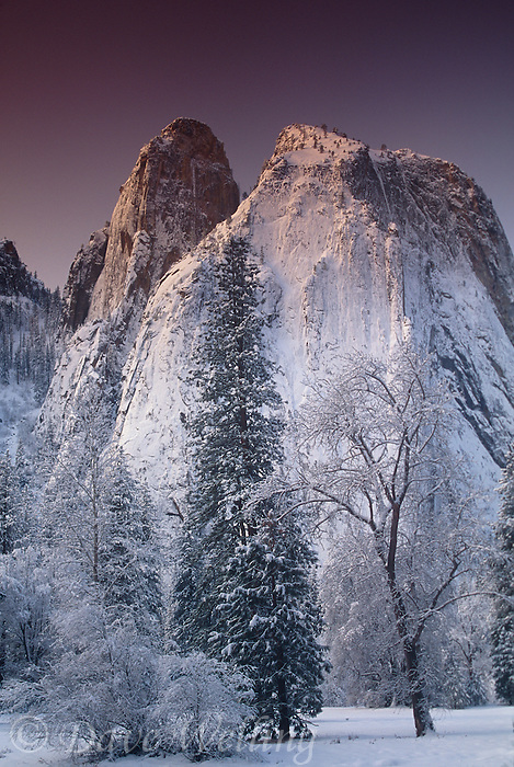799451113 winter sunrise on the mountains in yosemite national park californiia