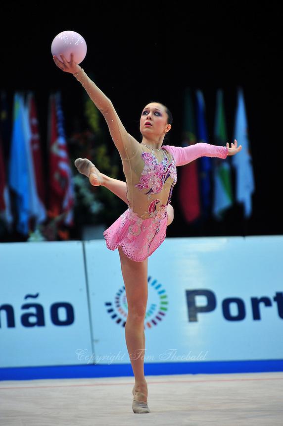 Silviya Miteva of Bulgaria performs at 2011 World Cup at Portimao, Portugal on May 01, 2011.  .