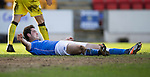 St Johnstone v St Mirren....21.03.15<br /> Brian Graham reacts after heading wide<br /> Picture by Graeme Hart.<br /> Copyright Perthshire Picture Agency<br /> Tel: 01738 623350  Mobile: 07990 594431