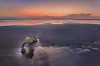 Peter Iredale Shipwreck Beached Remains - Dusk - Oregon Coast