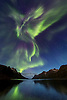 A very powerful auroa over the fjord Ersfjordbotn, close to Troms&oslash;, on sept.5th,2012. This special aurora has a shape which reminds of a dragon. The head of the dragon is made by a &quot;coronal aurora&quot;.<br /> <br /> This shot was featured on National Geographics Daily news on Sept.6th 2012:<br /> <br /> http://news.nationalgeographic.com/news/2012/09/pictures/120906-auroras-northern-lights-sun-solar-flare-science/#/03-aurora-borealis-sept_58938_600x450.jpg<br /> <br /> As well as on the cover of Sky &amp; Telescope feb.2013:<br /> http://media.skyandtelescope.com/images/FC-2013-02-172px.jpg