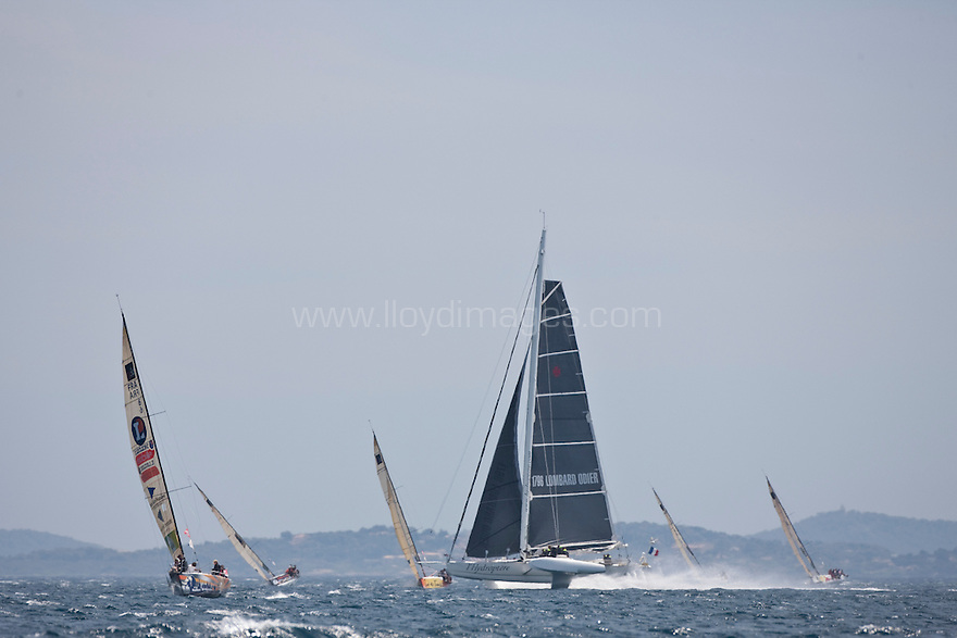 The Tour de France a la Voile, L'hydroptère..Credit: Lloyd Images