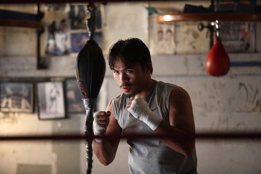 Manny Pacquiao, boxer in Los Angles.