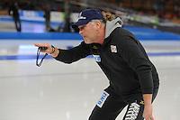 SCHAATSEN: BERLIJN: Sportforum Berlin, 05-03-2016, WK Allround, Peter Mueller (Trainer/Coach Claudia Pechstein), ©foto Martin de Jong