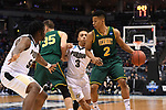 MILWAUKEE, WI - MARCH 16:  Vermont Catamounts guard Trae Bell-Haynes (2) looks to dribble around Purdue Boilermakers forward Caleb Swanigan (50) during the first half of the 2017 NCAA Men's Basketball Tournament held at BMO Harris Bradley Center on March 16, 2017 in Milwaukee, Wisconsin. (Photo by Jamie Schwaberow/NCAA Photos via Getty Images)