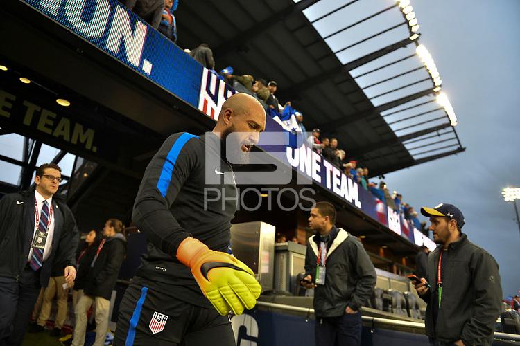 San Jose, CA - March 24, 2017: The U.S. Men's National team go up against Honduras in their 2018 FIFA World Cup Qualifying Hexagonal match at Avaya Stadium.