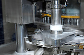 Drug manufacturing machinery used to sort drugs prior to being packaged. Royalty Free