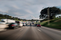 Motion blur image of I-35, Due to Austin's explosive growth I-35 is named the most congested roadway in Texas.