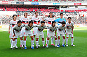 Nagoya Grampus team group line-up,APRIL 24th, 2011 - Football : Nagoya Grampus team group shot (Top row - L to R) Jungo Fujimoto, Marcus Tulio Tanaka, Joshua Kennedy, Takahiro Masukawa, Seigo Narazaki, (Bottom row - L to R) Keiji Yoshimura, Mu Kanazaki, Shohei Abe, Yoshizumi Ogawa, Kensuke Nagai and Hayuma Tanaka before the 2011 J.League Division 1 match between Urawa Red Diamonds 3-0 Nagoya Grampus Eight at Saitama Stadium 2002 in Saitama, Japan. The J.League resumed on Saturday 23rd April after a six week enforced break following the March 11th Tohoku Earthquake and Tsunami. All games kicked off in the daytime in order to save electricity and title favourites Kashima Antlers are still unable to use their home stadium which was damaged by the quake. Velgata Sendai, from Miyagi, which was hard hit by the tsunami came from behind for an emotional 2-1 victory away to Kawasaki. (Photo by AFLO).