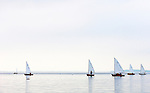 Sailboats on Lake Mendota near the University of Wisconsin Memorial Union in Madison, Wisconsin.