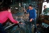 April 15th, 1989, Poyang, Jiangxi Province, China: daily life, small business, the blacksmith.