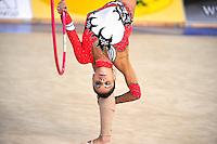 Filipa Siderova-Semionova of Georgia performs with hoop at 2010 Holon Grand Prix at Holon, Israel on September 3, 2010.  (Photo by Tom Theobald).