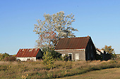 Old abonndoned farm house, early fall scene, Quebec Lanaudiere