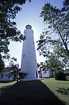 Point Clark Lighthouse Backlit by the Sun