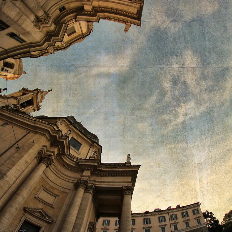 Rome, Piazza del Popolo - Santa Maria di Montesanto e Santa Maria dei Miracoli