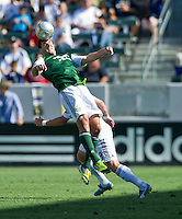 CARSON, CA - June 17, 2012: Portland Timbers defender David Horst (12) during the LA Galaxy vs Portland Timbers match at the Home Depot Center in Carson, California. Final score LA Galaxy 1, Portland Timbers 0.