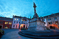 The Holy Trinity Statue, the first Baroque twisted coloumn in Central Europe. 1695-1701  - Fo Square - Sopron, Hungary