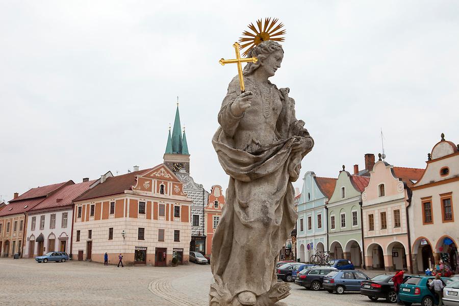 Religious sculpture in Slavonice, Czech Republic, Europe