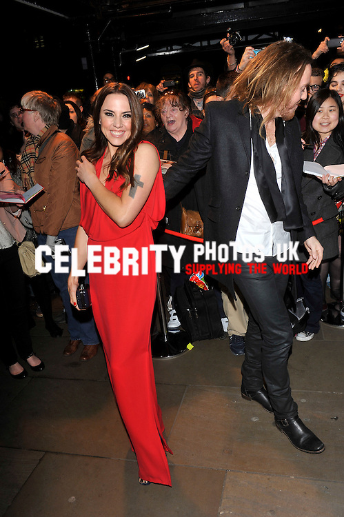 melanie c and tim  minchin at the Whatsonstage.com Awards 2013 at the Palace Theatre  London, United Kingdom 17 Feb 2013 Picture By: Brian Jordan / Retna Pictures.. ..-..