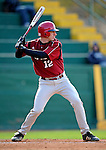 30 April 2008: University of Massachusetts Minutemen third baseman and designated hitter for this game Jim Macdonald, a Junior from Cheshire, CT, in action against the University of Vermont Catamounts at Historic Centennial Field in Burlington, Vermont. The Catamounts recorded a season-high 19 hits as they defeated the Minutemen 17-4 in their last NCAA non-conference game of the year...Mandatory Photo Credit: Ed Wolfstein Photo