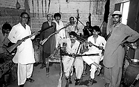 Pakistan 1986 .Darra Adamkhel is Pakistan's largest weapons bazaar and factory, renowned for its gun making expertise since the late 19th century, Darra is a sprawl of hundreds of workshops where some 3,500 gunsmiths toil on replica weapons..Factory Rifle