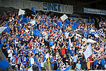 St Johnstone v FC Spartak Trnava...31.07.14  Europa League 3rd Round Qualifier<br /> The saints fans cheer their team<br /> Picture by Graeme Hart.<br /> Copyright Perthshire Picture Agency<br /> Tel: 01738 623350  Mobile: 07990 594431