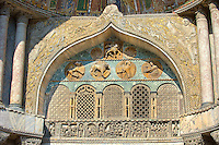 Medieval Oriental style Sculptures from the facade of St Mark's Basilica, Venice