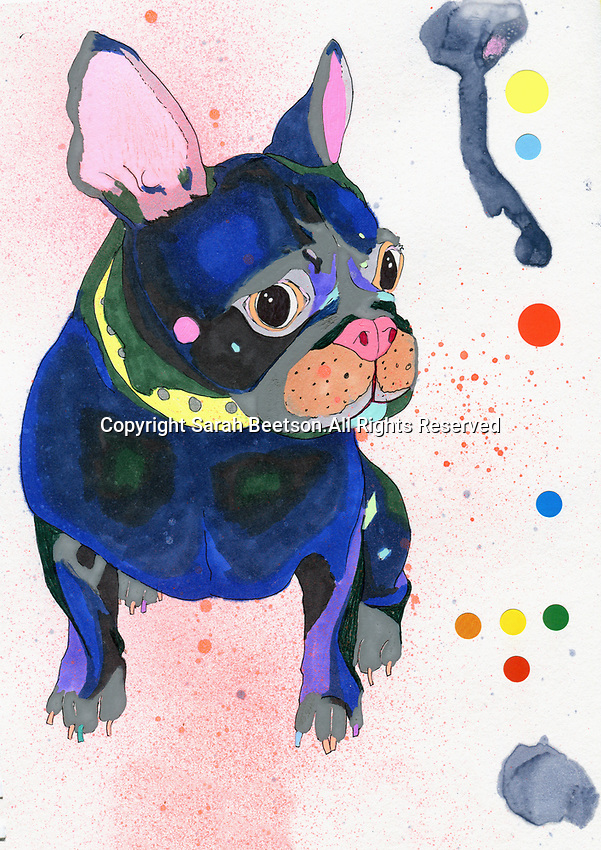 Painting of French Bulldog