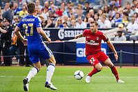 Sylvain Armand (22) of Paris Saint-Germain. Chelsea FC and Paris Saint-Germain played to a 1-1 tie during a 2012 Herbalife World Football Challenge match at Yankee Stadium in New York, NY, on July 22, 2012.