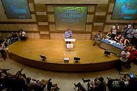 Roma, 7 Giugno 2015<br /> Secondo giorno della convention al Centro congresso Frentani della &quot;Coalizione sociale&quot;. Il segretario della Fiom  Maurizo Landini ha presentato le linee guida del suo nuovo movimento.<br /> Rome, June 7, 2015<br /> Second day of the convention at the Center Congress Frentani of &quot;Social Coalition&quot;. The secretary of Fiom Maurizio Landini presented the guidelines of its new movement.