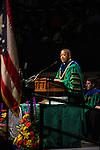 Ohio University President Roderick McDavis addresses students during the Graduate Commencement ceremony on Friday, May 2015.  Photo by Ohio University  /  Rob Hardin