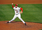 30 March 2008: Washington Nationals' pitcher Luis Ayala delivers a pitch against the Atlanta Braves inaugurating Nationals Park in Washington, DC. The Nationals defeated the Braves 3-2 to open the season, and christen the new state-of-the-art ballpark to a sellout crowd of 39,389...Mandatory Photo Credit: Ed Wolfstein Photo