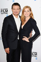 LONDON, UK. October 11, 2016: Jeremy Renner &amp; Amy Adams at the London Film Festival 2016 photocall for &quot;Arrival&quot; at the Corinthia Hotel, London.<br /> Picture: Steve Vas/Featureflash/SilverHub 0208 004 5359/ 07711 972644 Editors@silverhubmedia.com