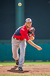 21 March 2015: Washington pitcher Taylor Jordan on the mound during a Spring Training Split Squad game against the Atlanta Braves at Champion Stadium at the ESPN Wide World of Sports Complex in Kissimmee, Florida. The Braves defeated the Nationals 5-2 in Grapefruit League play. Mandatory Credit: Ed Wolfstein Photo *** RAW (NEF) Image File Available ***