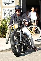David Beckham enjoys riding his custom-made vintage Harley Davidson - Los Angeles