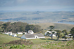 Tule Elk Reserve, Point Reyes National Seashore, California; Historic Pierce Point Ranch viewed from up on a ridge