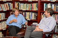 """CORAL GABLES, FL - SEPTEMBER 06: Author Dave Barry seated with Mitchell Kaplan before Barry discussion and signing copies of his new book """" BEST. STATE. EVER.: A Florida Man Defends His Homeland """" At Coral Gables Congregational Church presented by Books and Books on September 6, 2016 in Coral Gables, Florida. Credit: MPI10 / MediaPunch"""