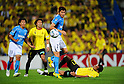 (T-B) Kenichi Kaga (Jubilo), Roger (Reysol), JUNE 15th, 2011 - Football : 2011 J.League Division 1 match between Kashiwa Reysol 0-3 Jubilo Iwata at Hitachi Kashiwa Soccer Stadium in Chiba, Japan. (Photo by AFLO).